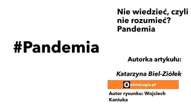Nie wiedzieć, czylinie rozumieć? Pandemia