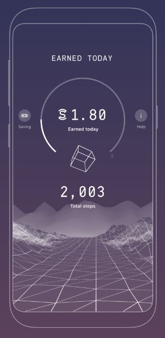Sweatcoin User Interface