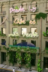 """La fachada """"verde"""" del Ministerio del Medio Ambiente (2010)."""