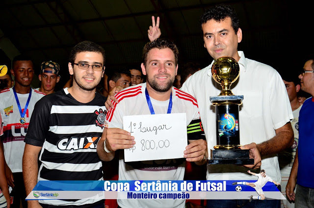VIP_9281 Monteirense é campeão da Copa Sertânia de Futsal