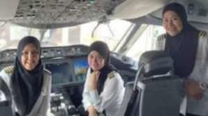 160316075303bruneiairlines640x360bruneikraliyethavayollarinocredit-300x168 Histórico voo comandado por mulheres pousa na Arabia Saudita, onde elas são impedidas de dirigir