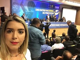 1-1-1 Prefeita eleita de Monteiro participa de Encontro Nacional de Prefeitos do PSDB