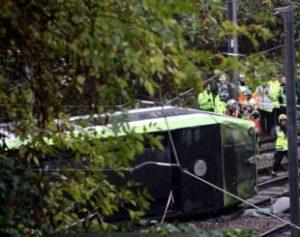 tram-310x245-300x237 Bonde descarrila em Londres no início da manhã, deixando feridos