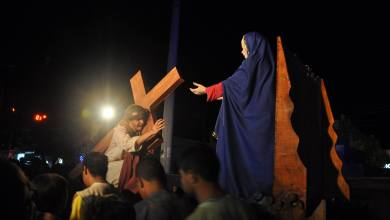 Mais Imagens da primeira noite de apresentação do espetáculo da Paixão de Cristo 2017 em Monteiro 7