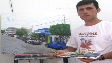 Artista Plástico monteirense retrata Monteiro e Artistas populares em suas Telas 6