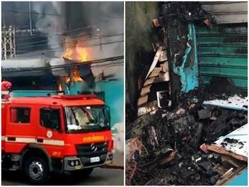 17529836280003622710000 Loja de eletroeletrônicos é destruída por incêndio em shopping popular na Capital
