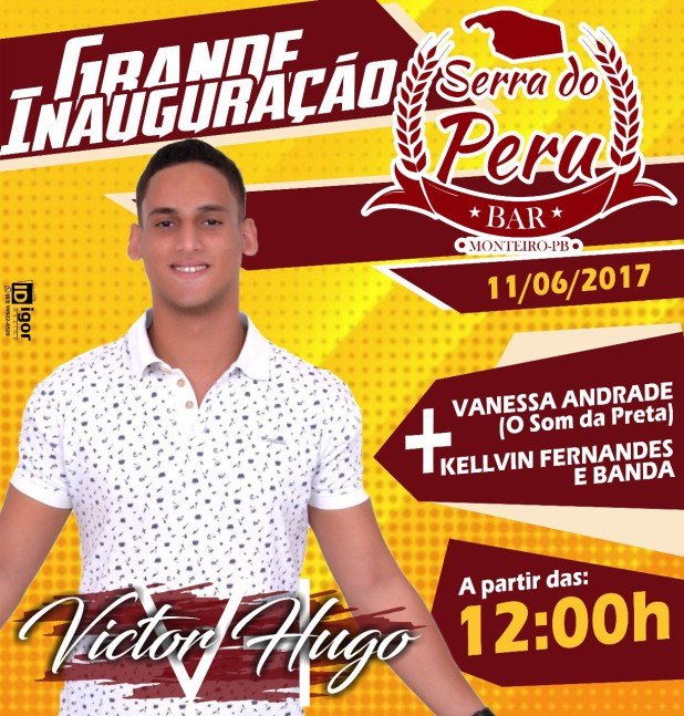 É NESTE DOMINGO (11)  Grande inauguração do BAR SERRA DO PERU 2