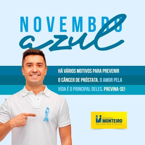 6f46fc46-5839-4907-a575-60aa62fa1b8b Novembro Azul: Prefeitura de Monteiro faz campanha contra o câncer de próstata