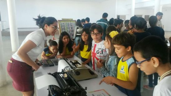 Exposição_Máquinas-003 Alunos da Rede Municipal de Monteiro participam de exposição sobre antigas máquinas de calcular