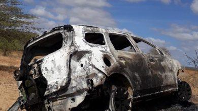 Carro roubado é encontrado queimado no Cariri 5