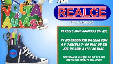 PROMOÇÃO VOLTA ÀS AULAS É NA REALCE CALÇADOS 7