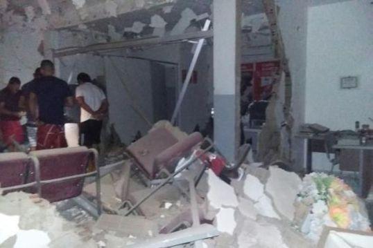 explosao_bradesco_dona_ines Bandidos explodem e roubam mais uma agência do Bradesco em cidade paraibana