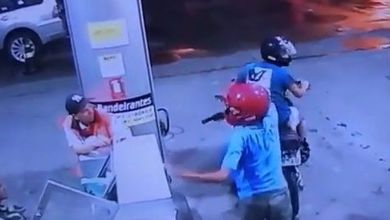 Dupla assalta posto de gasolina na Capital e câmeras de segurança flagram tudo 3