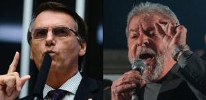 """LULA-e-Bolsonaro-300x146 Bolsonaro diz que Lula tem """"carta no bolso"""" para ser solto"""