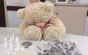 URSO-300x187 Casal é preso com droga escondida dentro de ursinho de pelúcia em Campina Grande