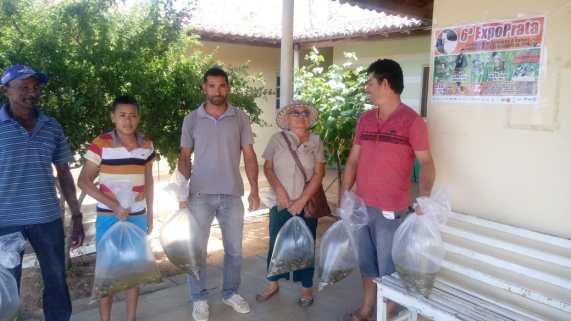 f75a0477-1c1c-41fd-97a4-160a30a297ce EMATER Monteiro distribui 40.000 mil alevinos atendendo 100 Produtores Rurais da região.