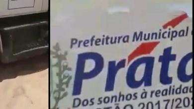 Escândalo: Ex-vereador denuncia uso de caminhão caçamba do PAC do município de Prata em Obra no município Juazeirinho. 6