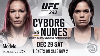 Amanda Nunes e 'Cyborg' discutem durante entrevista coletiva do UFC 232 3