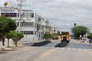 Mais uma etapa da obra de pavimentação asfáltica se inicia na cidade de Monteiro 4