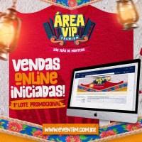 Vendas de Ingressos Área Vip Premium do São João de Monteiro 2019