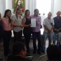 Vereadores de Monteiro participam de posse de novos concursados