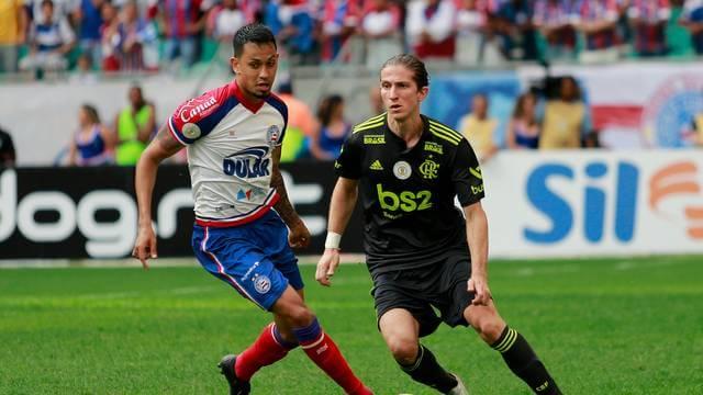 frm20190804120 Com hat-trick de Gilberto, Bahia passa por cima do Flamengo na Fonte Nova