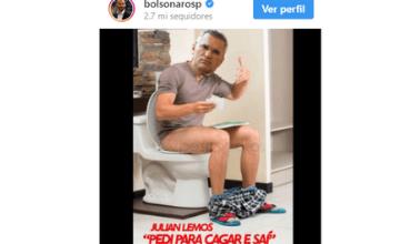 Filho de Bolsonaro ataca Julian Lemos e posta montagem com deputado em redes sociais 5