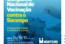 """Saúde de Monteiro convida população para o """"Dia D de Vacinação contra o Sarampo"""" 8"""