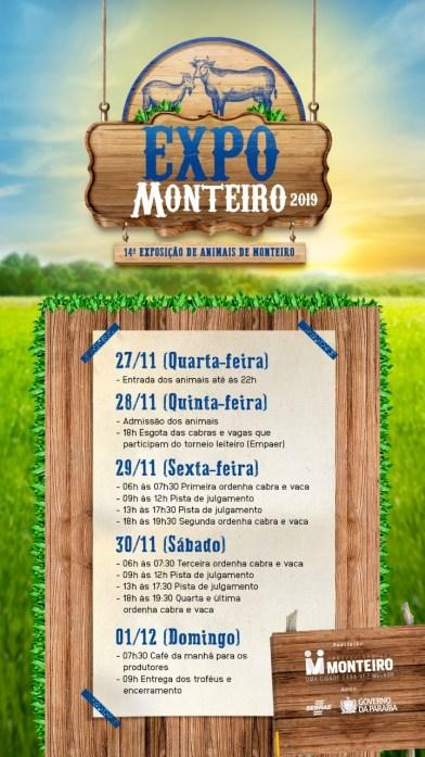 Expo-Monteiro XIV Expo Monteiro conta com novidades e acontece em novembro na Praça de Eventos