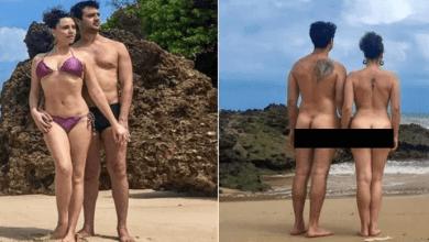 NUDES: Ex-Chiquititas posa pelada em praia de nudismo da Paraíba 4