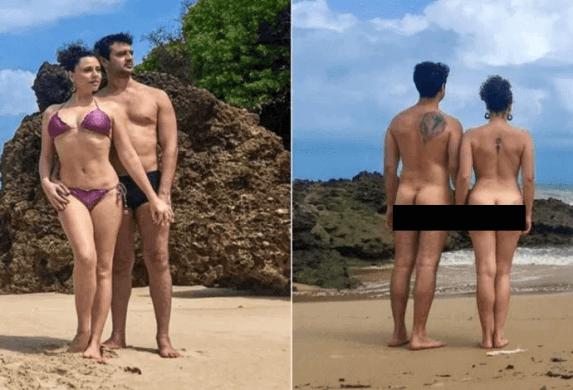 NUDES: Ex-Chiquititas posa pelada em praia de nudismo da Paraíba 1