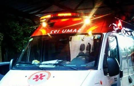 samu-sirene Colisão entre moto e caminhonete deixa duas pessoas feridas na BR-110 emMonteiro