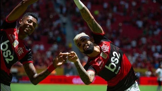 FLAMENGO3 É campeão! Flamengo domina o Athletico-PR e conquista a Supercopa