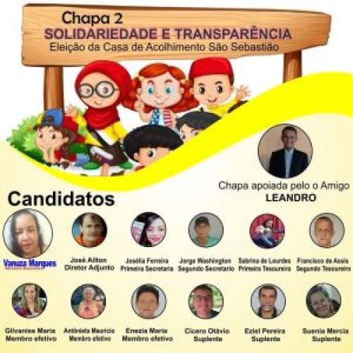 MONTERO Chapa número 2 vence eleição da diretoria da casa de Acolhimento de Monteiro