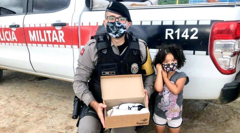 doacao1 Parceria entre o Ministério Público da Paraíba, Alpargatas e Polícia Militar doa 2500 pares de calçados em comunidades no estado