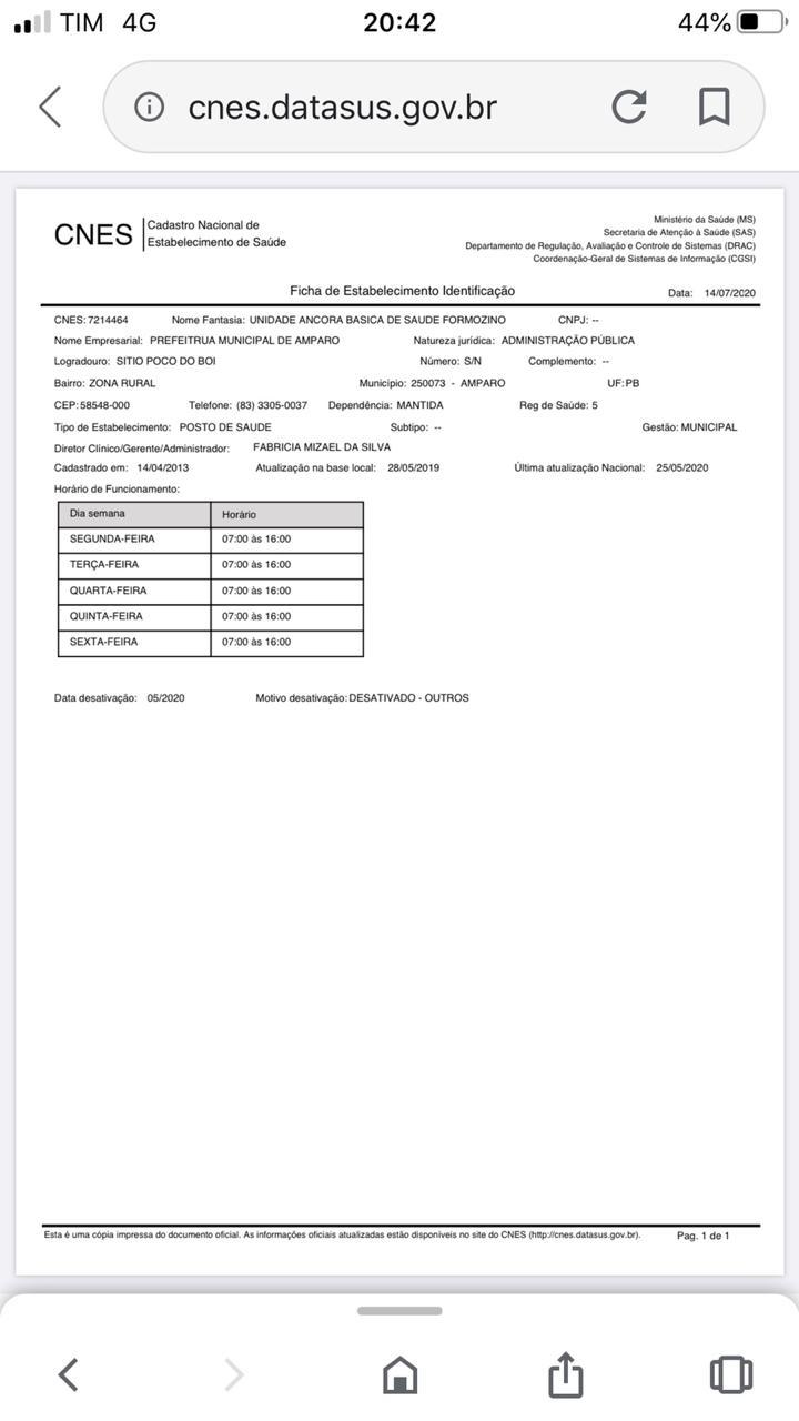 IMG-20200723-WA0203 ESCÂNDALO: Âncoras de Saúde são abandonadas pela gestão do prefeito Inácio Nóbrega de Amparo.