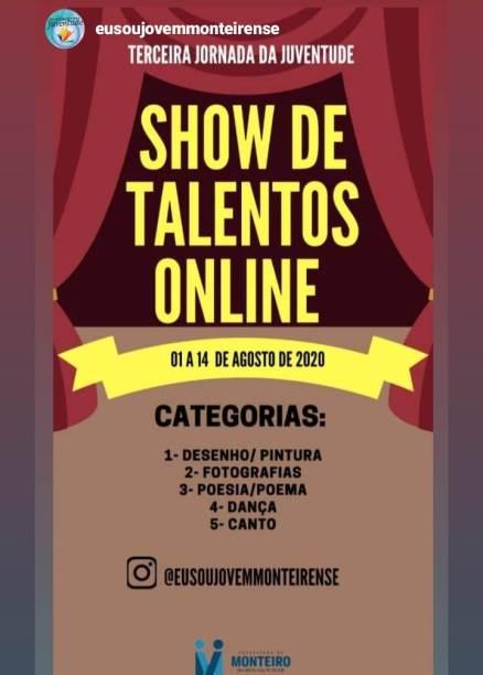 Show-de-Talentos-online1 Prefeitura de Monteiro realiza primeiro Show de Talentos online do município