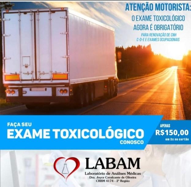 IMG_20200814_081839 Realize seu Exame Toxicológico para renovação da CNH no Laboratório LABAM
