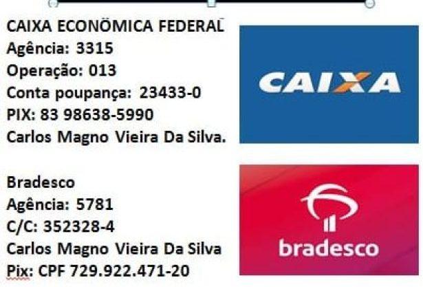 151697493_2941822809474414_4064799514170629590_n-e1614194414353 CORRENTE DO BEM pede ajuda para o tratamento do educador Monteirense Carlos Magno