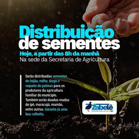 159736195_1897168957112040_8742367857037991947_o Prefeitura de Zabelê entrega sementes para produtores rurais