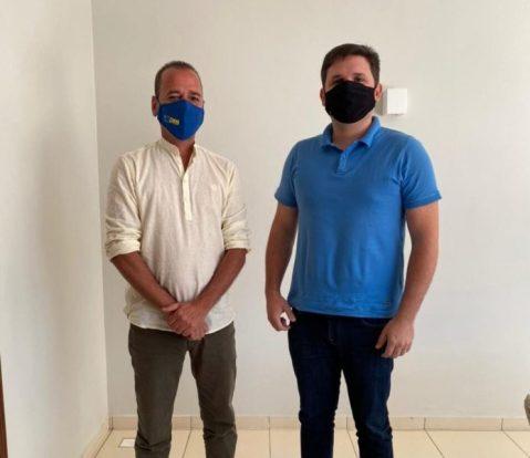 marcio-leite-hugo-mota Prefeito Márcio Leite se reúne com deputado Hugo Motta em busca de recursos para São João do Tigre