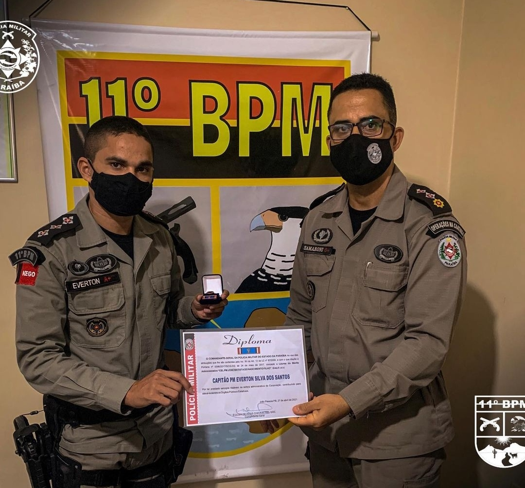 IMG_20210506_144919 11º Batalhão de Polícia Militar de Monteiro, realiza solenidade alusiva ao patrono das Polícias Militares e entrega medalhas