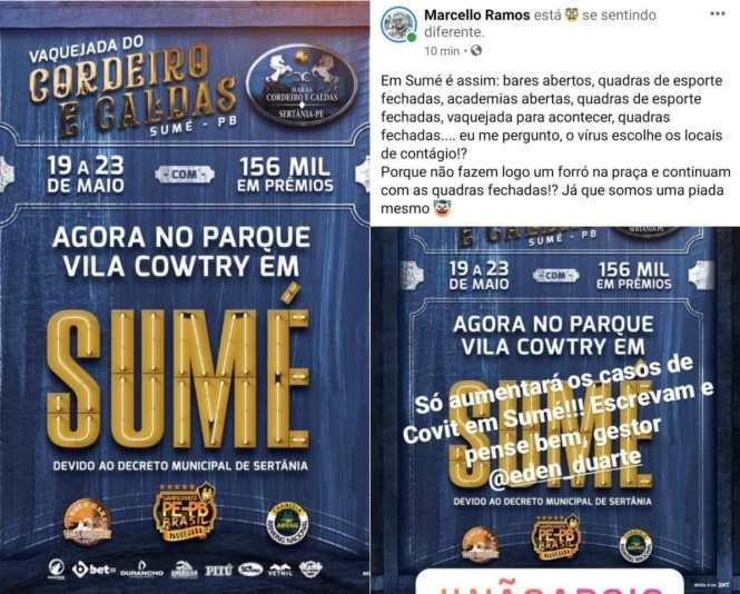 aa4d575a-99dd-4933-bf07-038dffd85a86 Proibida de acontecer em Pernambuco, vaquejada de Sertânia é transferida para parque Vila Cowtry em Sumé e causa revolta