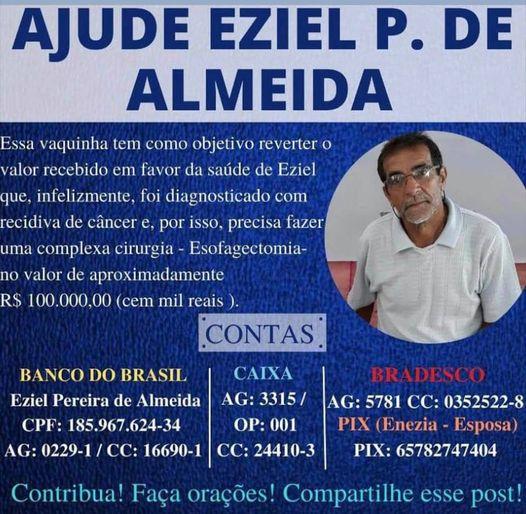eziel Em Monteiro: Família cria vaquinha virtual para custear cirurgia que custa aproximadamente R$ 100 mil