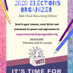 OPIRG IS HIRING! Chief Returning Officer Contract Position 2020