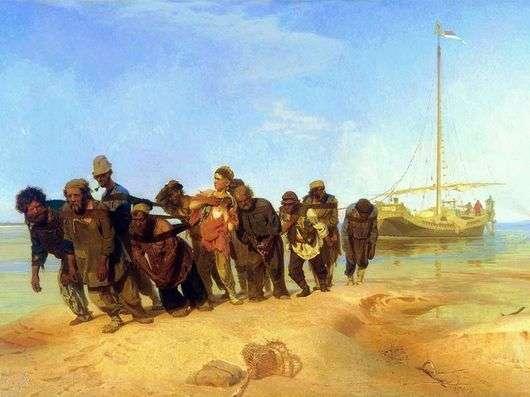 Описание картины Ильи Репина «Бурлаки на Волге»