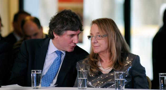 Amado Boudou junto a Alicia Kirchner en El Calafate - Foto: OPI Santa Cruz/Francisco Muñoz
