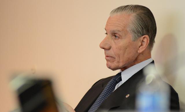 Roberto Bendini en el Tribunal Oral Federal esta mañana - Foto: OPI Santa Cruz/Francisco Muñoz