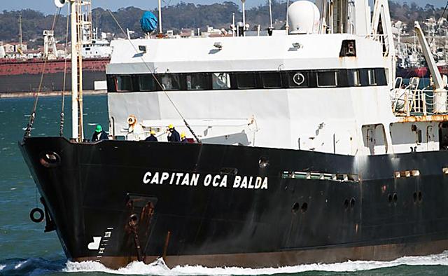 El capitan Oca Balda en el mar - Foto: