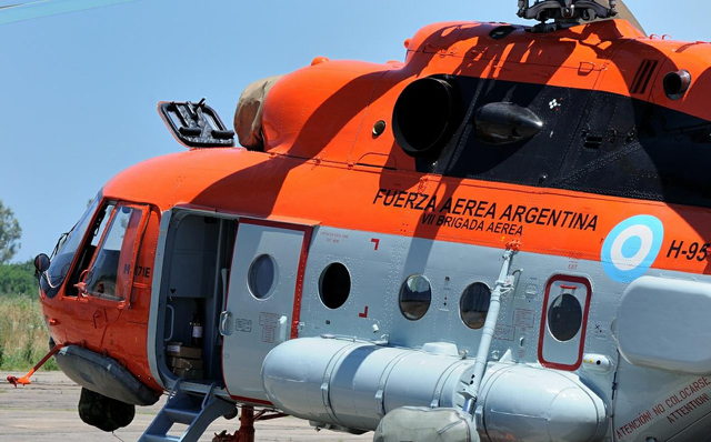 El helícoptero MI 17 de la fuerza Áerea Argentina - Foto: